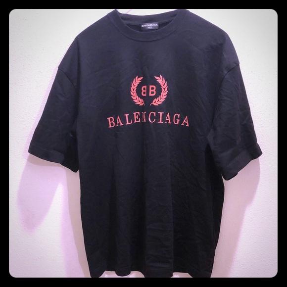 59ceea22f86a Balenciaga Tops - Balenciaga black bb T-shirt
